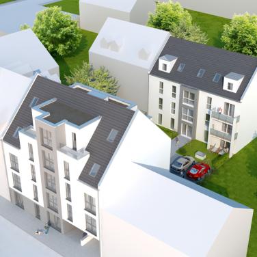 Aschaffenburg-Brentanoviertel: Neubau von 2 Mehrfamilienhäusern