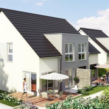Aschaffenburg-Gailbach: Neubau von zwei Doppelhaushälften